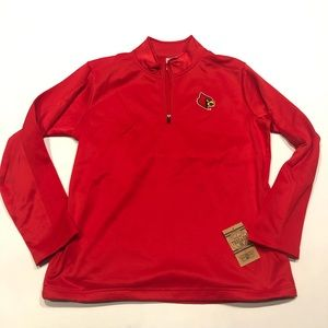 ❤️ Cardinals red zip on jersey new L